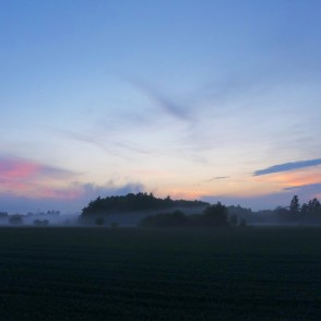 Countryside Landscape After Sunset
