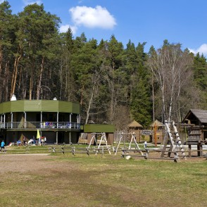 "Cafe ""Lutauša galds"" in Tērvete Nature Park"
