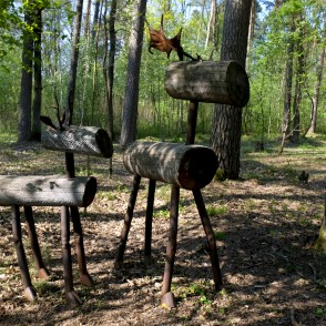 Sculptures in Langervalde Forest