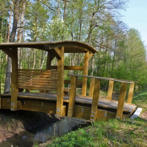 Footbridge in Langervalde Forest at Jaunais Ceļš (New Road)