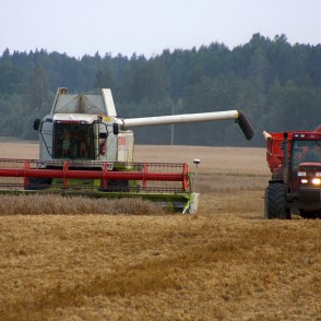 Harvesting with a Combine
