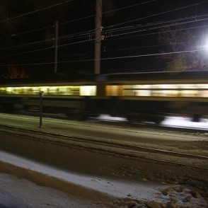 Train passing by in the Night