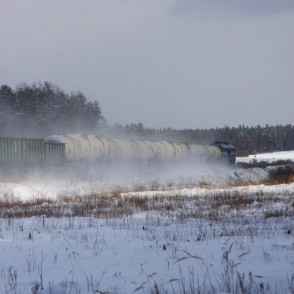 Freight Train in the Winter
