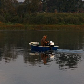 An Angling from a Motorboat