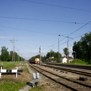 Railway in the City Lielvārde