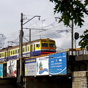 Electric Passenger Train in Riga