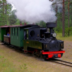 Narrow Gauge Train in Ventspils Seaside Open Air Museum