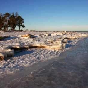 Cape Kolka Landscape in Winter