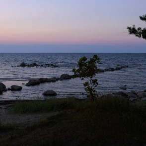 After sunset at the shore of the Baltic Sea in Mersrags