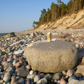 Stones at Coastline of Baltic sea