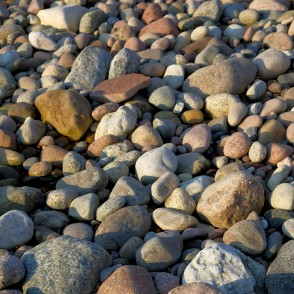 Stones and Pebbles at Coastline of Baltic sea