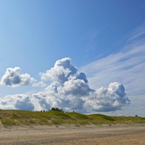 Cloudy Sky at Ventspils Seaside