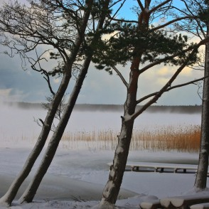 Būšnieku Lake in Winter