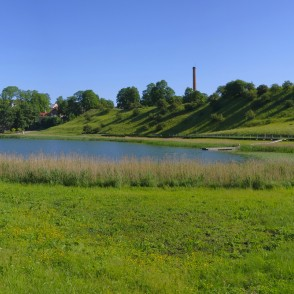 Talsi Hillfort and Lake Talsi Panorama