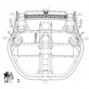Drawings for building replica models of ships