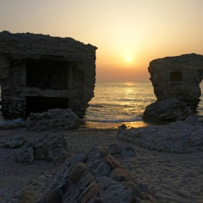 Ruins Of The Northern Forts At Sunset