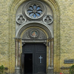 Entrance Portal Of St. Joseph Catholic Cathedral
