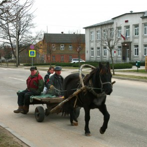 With horse-cart in Kraslava