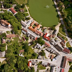 Aerial Panorama of Talsi Town