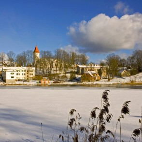 Winter Landscape of Talsi, Latvia