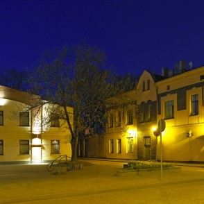 Ventspils Town in Night