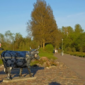 "Sculpture ""Stone Cow"" in Ventspils, Latvia"