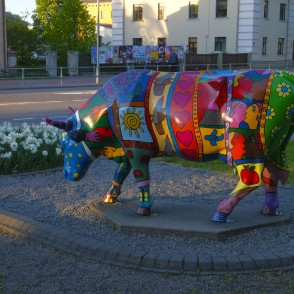 "Sculpture ""Life is Beautiful"" in Ventspils, Latvia"