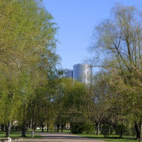 View from Victory Park to Z-Towers Complex