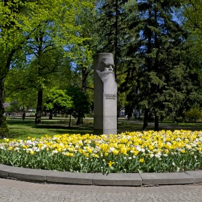Monument to Krišjānis Barons in Vermane Garden